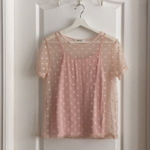 **Youth Girls Pink H&M Blouse**